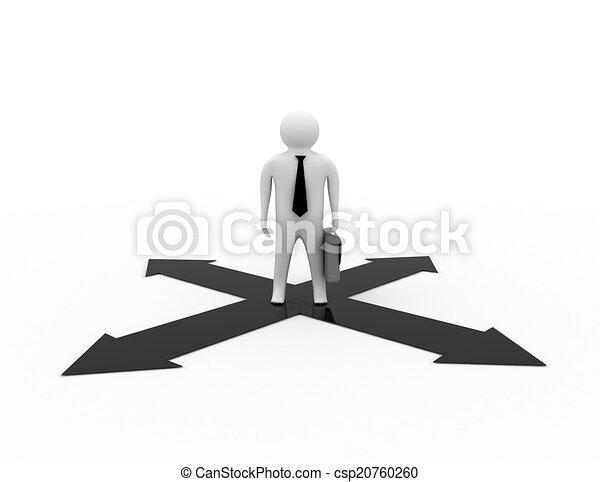 homme affaires, fond blanc - csp20760260