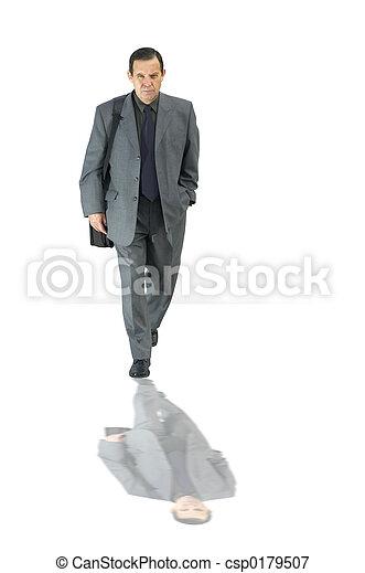 homme affaires, isolé - csp0179507
