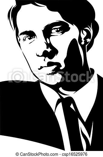 homme affaires, jeune - csp16525976