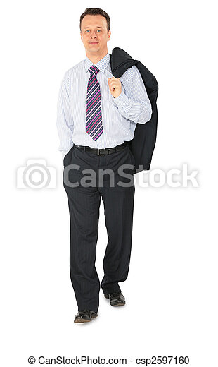homme affaires, marche - csp2597160