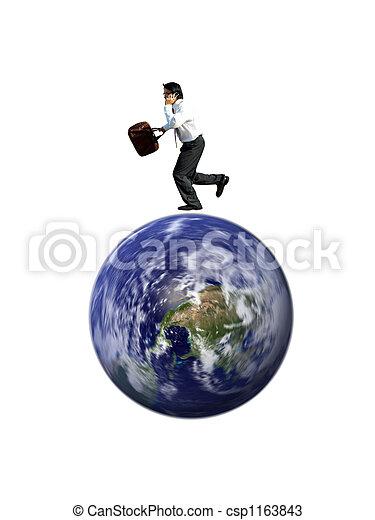 homme affaires, occupé - csp1163843