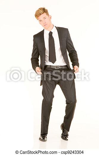 homme affaires, poches vides - csp9243304