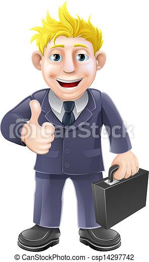 homme affaires, pouces haut - csp14297742