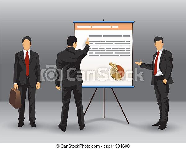 homme affaires, présentation, illustration - csp11501690