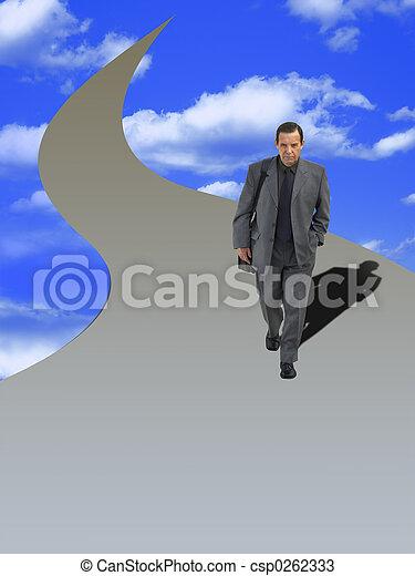 homme affaires, sage - csp0262333