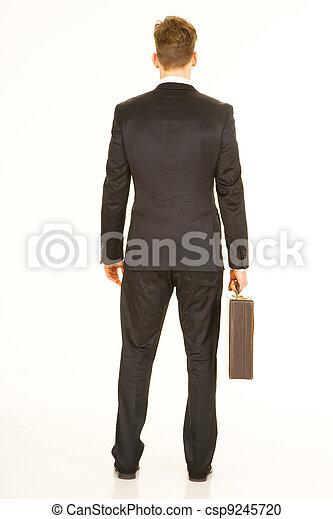 homme affaires, serviette - csp9245720