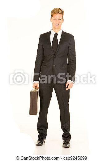 homme affaires, serviette - csp9245699