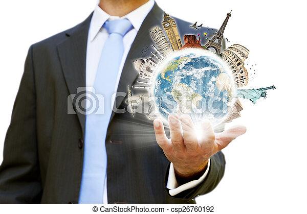 homme affaires, sien, choisir, fetes - csp26760192