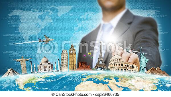 homme affaires, sien, choisir, fetes - csp26480735