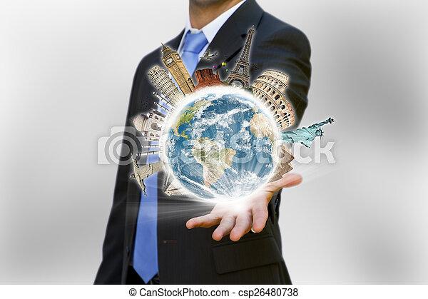 homme affaires, sien, choisir, fetes - csp26480738