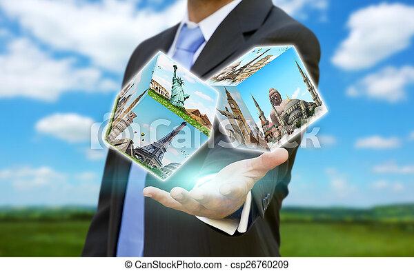 homme affaires, sien, concept, choisir, fetes - csp26760209