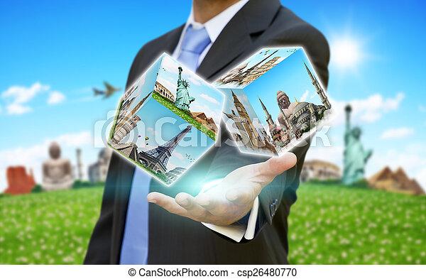 homme affaires, sien, concept, choisir, fetes - csp26480770