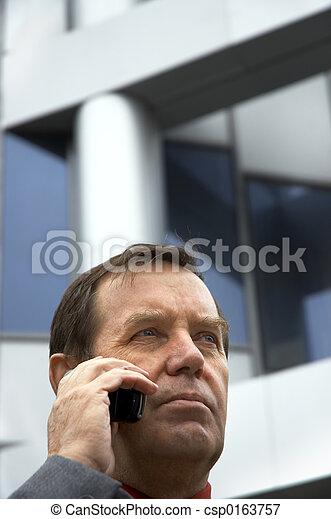 homme affaires, téléphone - csp0163757