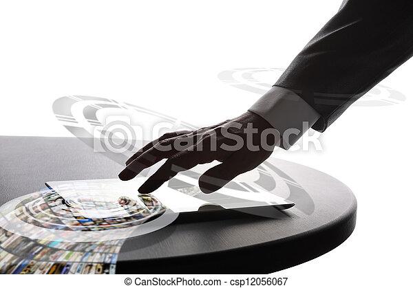 homme affaires, utilisation, pc tablette - csp12056067