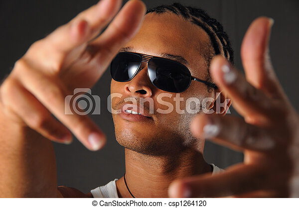homme africain, faire gestes - csp1264120