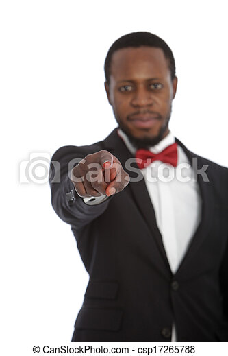 homme, appareil photo, pointage, africaine - csp17265788