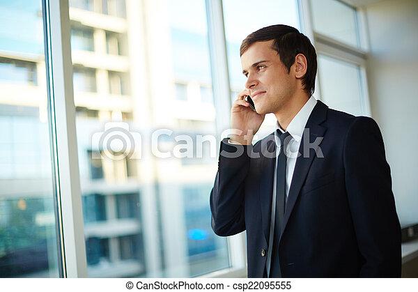 homme, appeler - csp22095555