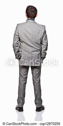 homme, arrière affichage - csp12870259