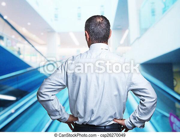 homme, arrière affichage - csp26270049