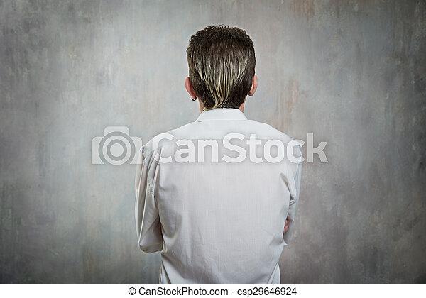 homme, arrière affichage - csp29646924