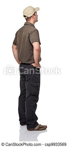 homme, arrière affichage - csp9933569
