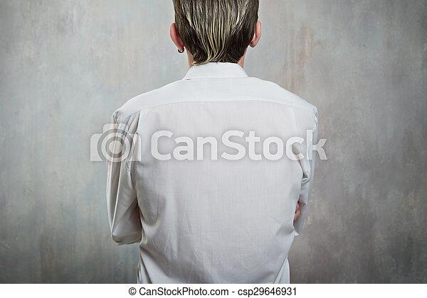 homme, arrière affichage - csp29646931