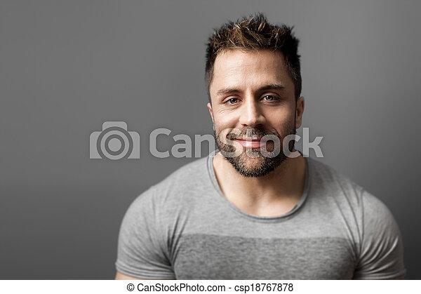 homme, barbe - csp18767878