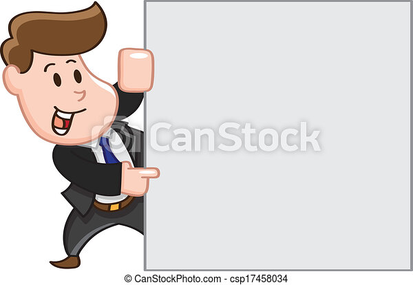 homme, copie, business, pointage, espace - csp17458034