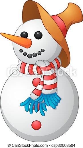 homme, dessin animé, neige - csp32003504