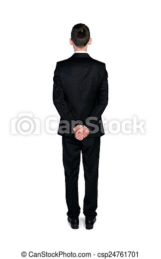homme, dos, business, vue - csp24761701