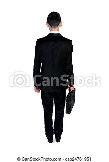homme, dos, business, vue - csp24761951