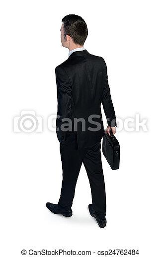 homme, dos, business, vue - csp24762484