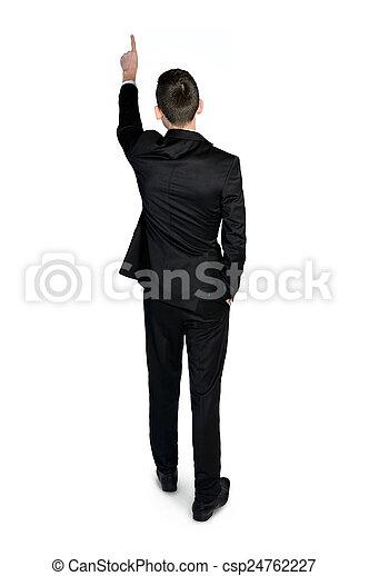 homme, dos, business, vue - csp24762227