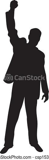 homme, haut, business, bras - csp15323846