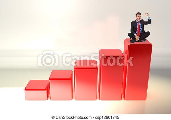homme, jeune, business, enjôleur - csp12601745