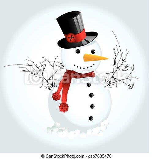 homme neige - csp7635470