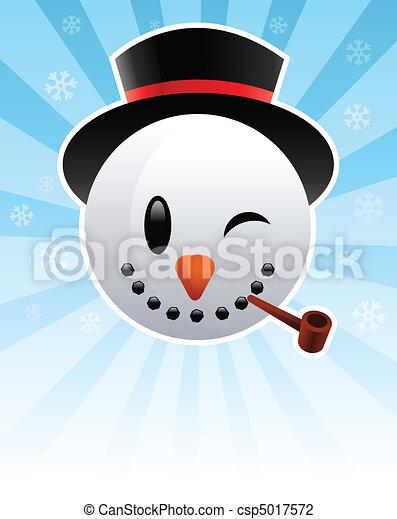 homme neige - csp5017572