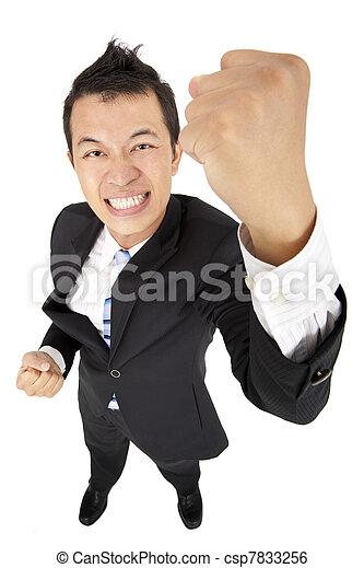 homme, poing, jeune, business, asiatique - csp7833256