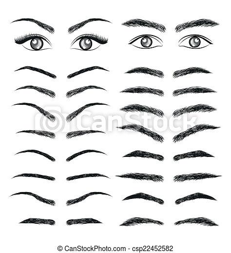 Favori Vecteur de homme, yeux, vecteur, sourcil, femmes csp22452582  IQ38