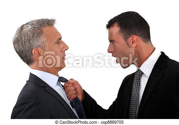 hommes affaires, combat - csp8889705