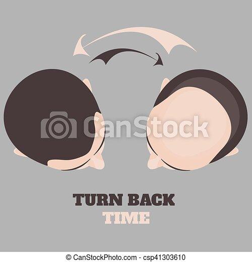 hommes, deux, perte cheveux - csp41303610