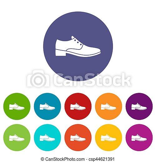 hommes, ensemble, chaussure, icônes - csp44621391