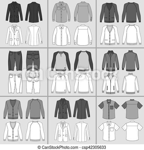 hommes, ensemble, habillement - csp42305633