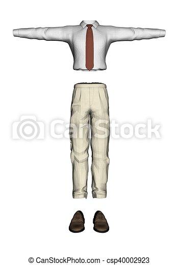 hommes, habillement - csp40002923