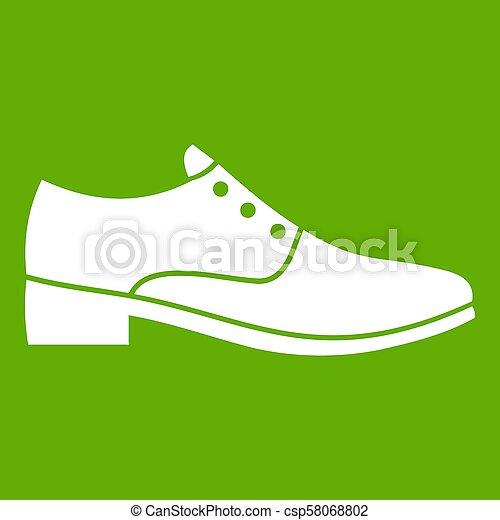 hommes, vert, chaussure, icône - csp58068802