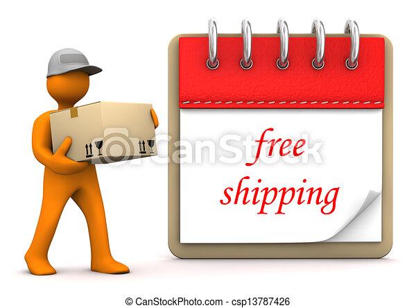 homoncule, bloc-notes, gratuite, expédition - csp13787426