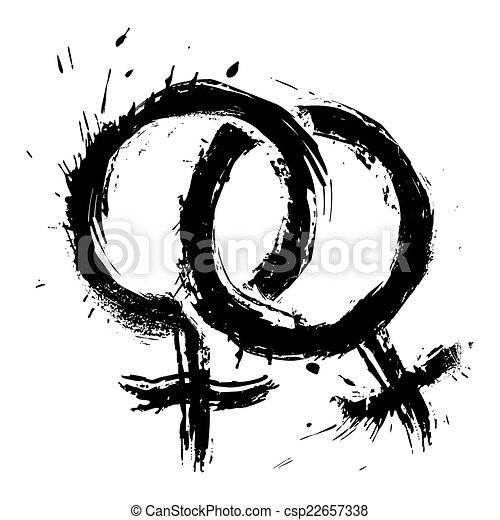 Homosexual womans love - csp22657338