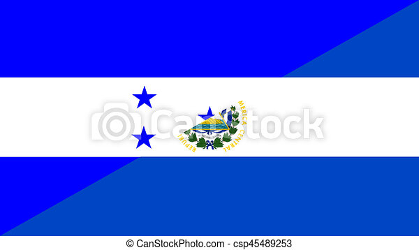 Honduras El Salvador Flag Honduras El Salvador Neighbor Countries