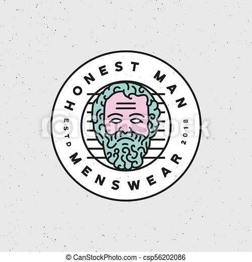 Honest Man Clothing Company Label Vector Illustration Vector