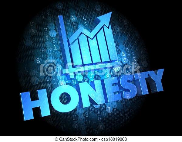 Honesty Concept on Digital Background. - csp18019068